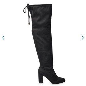 SO Ladybug Women's Over The Knee High Heel Boots